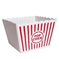(Set of 10) Reusable Plastic Popcorn Tubs by MB