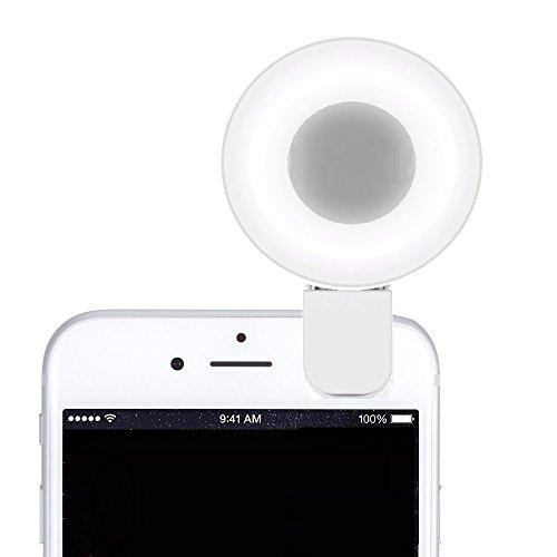 Cyxus(シクサズ) [明るさを調節可能] 夜間写真撮影光補充ライト 自撮り用 クリップ式 フィルインライト ストロボ フラッシュ LEDライト 9個 Apple iPhone 5/6/6S Plus Sumsung Sony スマートフォン携帯電話 [携帯で挟んで]