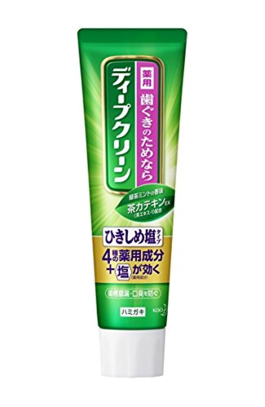 松褐色運動する【花王】ディープクリーン 薬用ハミガキ ひきしめ塩 100g ×10個セット