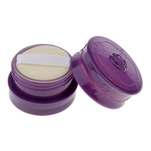 Fenteer パウダーケース ルースパウダー メイクアップ 化粧品 ファンデーション 詰替え 小分け 収納用 容器 旅行 4色選べる - 紫