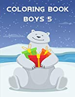Coloring Book Boys 5: Coloring Pages with Adorable Animal Designs, Creative Art Activities (Farm Animals)