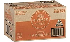 4 PINES American Amber Beer Case 24 x 330mL Bottles