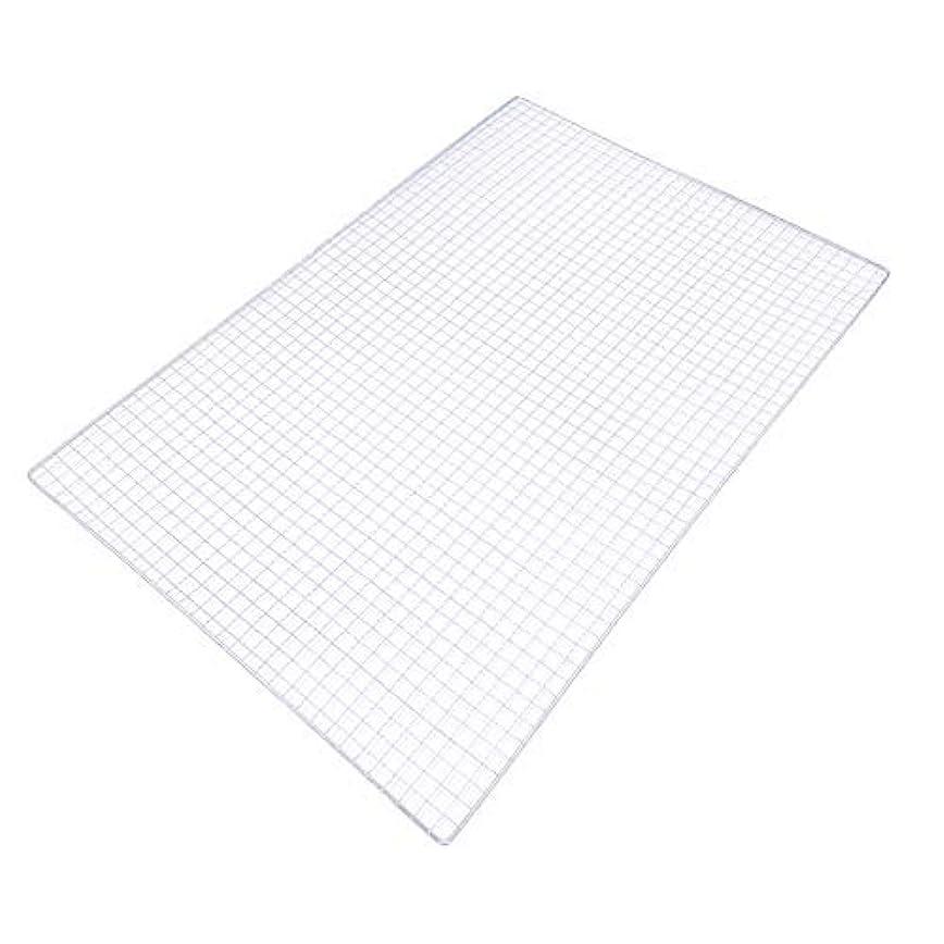立ち向かう性別抹消焼き網(スチール製) 角網長方形型 450×300mm