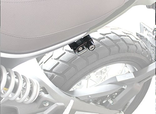 キジマ(Kijima) ヘルメットロック ブラック スクランブラー '15y~ HDC-05004