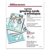 Office Depot(R) Brand Premium Greeting Cards, Half-Fold Matte, 22cm X 28cm, Pack Of 25