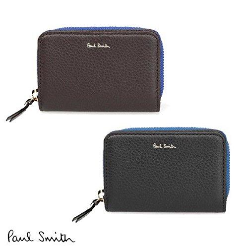 (ポールスミス)Paul Smith コントラストジップ キーケース 小銭入れ付 メンズ P122 (パープル)