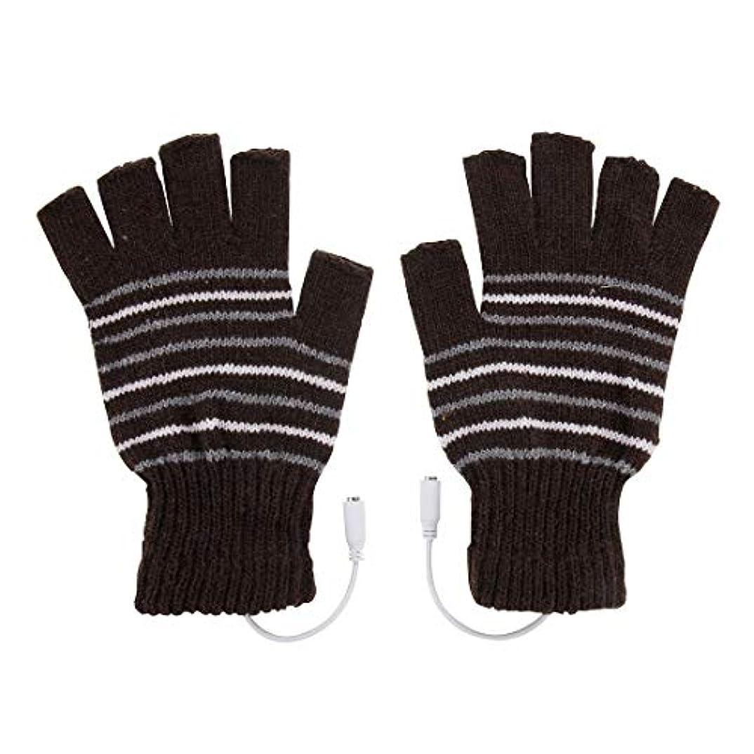 ドナー動詞カビBAJIMI 手袋 グローブ レディース/メンズ ハンド ケア アウトドアスポーツ電気加熱半指ニット耐久性のある手袋 裏起毛 おしゃれ 手触りが良い 運転 耐磨耗性 換気性