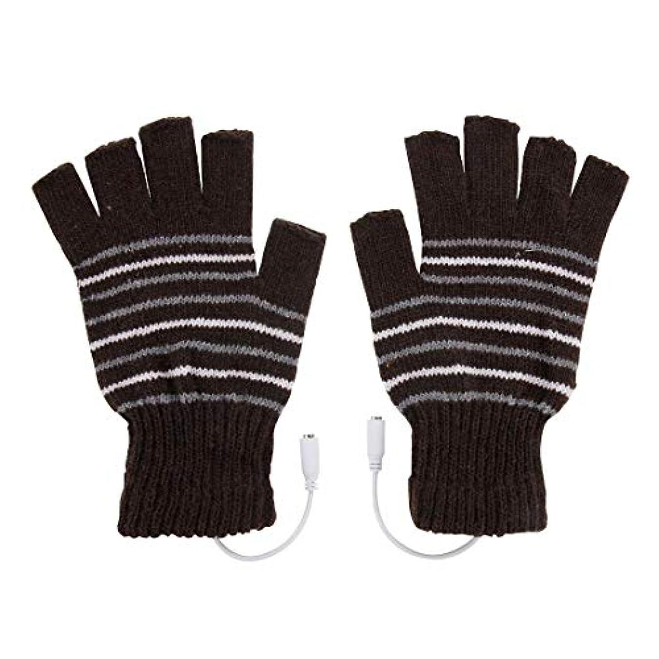 禁輸スチール装備するBAJIMI 手袋 グローブ レディース/メンズ ハンド ケア アウトドアスポーツ電気加熱半指ニット耐久性のある手袋 裏起毛 おしゃれ 手触りが良い 運転 耐磨耗性 換気性
