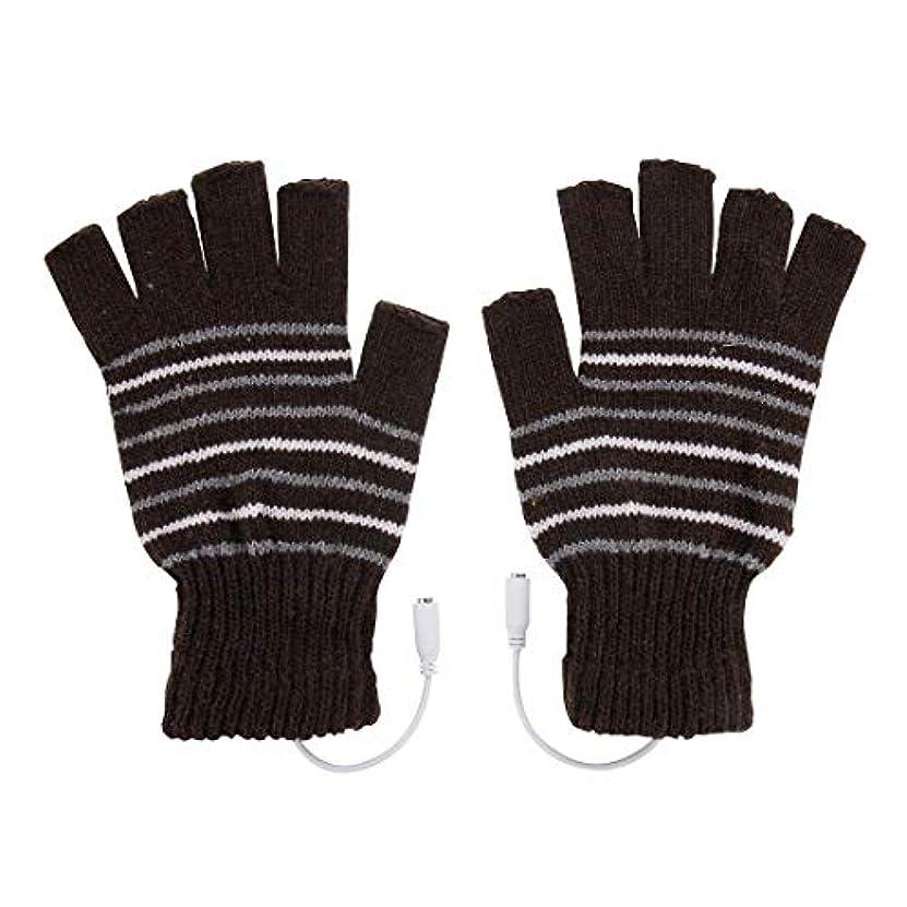 テナント睡眠医学BAJIMI 手袋 グローブ レディース/メンズ ハンド ケア アウトドアスポーツ電気加熱半指ニット耐久性のある手袋 裏起毛 おしゃれ 手触りが良い 運転 耐磨耗性 換気性
