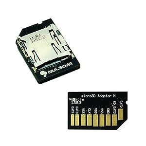 横型 ラズベリーパイ用 短いmicroSDカードアダプタ - Premium Low Profile microSD to SD Card Adapter for Raspberry Pi (Push In/Out, Horizontal Type)