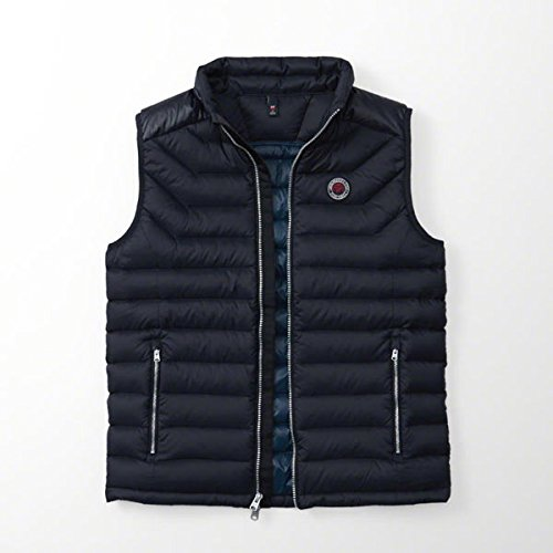 (アバクロンビー & フィッチ) Abercrombie & Fitch ダウンベスト:Lightweight Puffer Vest - Navy│ネイビー│紺 L [並行輸入品]