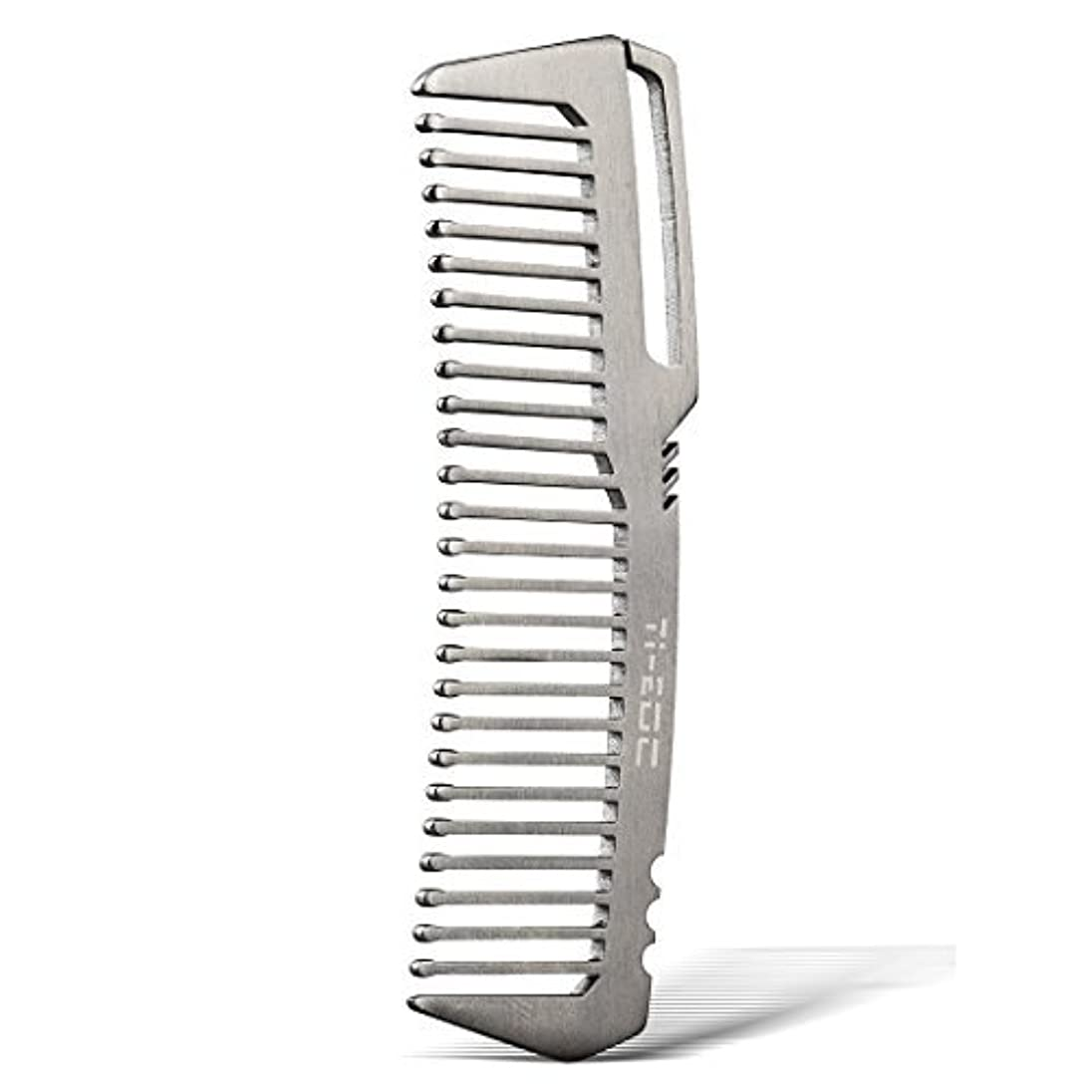 ガソリン私たちのもの一瞬TI-EDC Titanium Hair Beared Comb Handmade Premium Eco-friendly Durable Pocket Wallet Comb [並行輸入品]