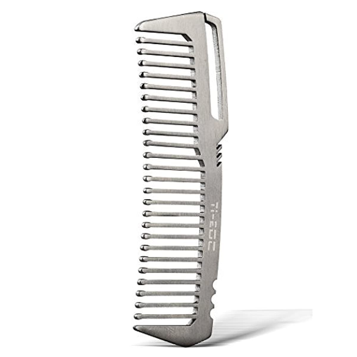 貴重な独立ボーカルTI-EDC Titanium Hair Beared Comb Handmade Premium Eco-friendly Durable Pocket Wallet Comb [並行輸入品]