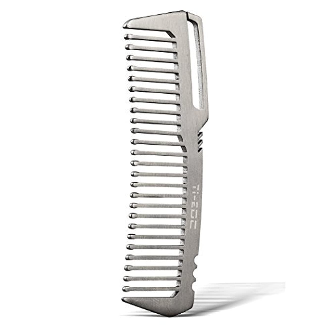 アリス効能写真を撮るTI-EDC Titanium Hair Beared Comb Handmade Premium Eco-friendly Durable Pocket Wallet Comb [並行輸入品]