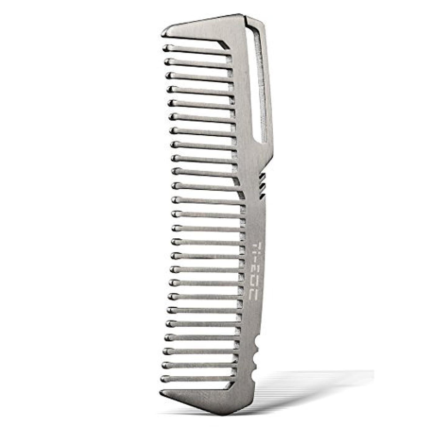 できた誇大妄想好戦的なTI-EDC Titanium Hair Beared Comb Handmade Premium Eco-friendly Durable Pocket Wallet Comb [並行輸入品]