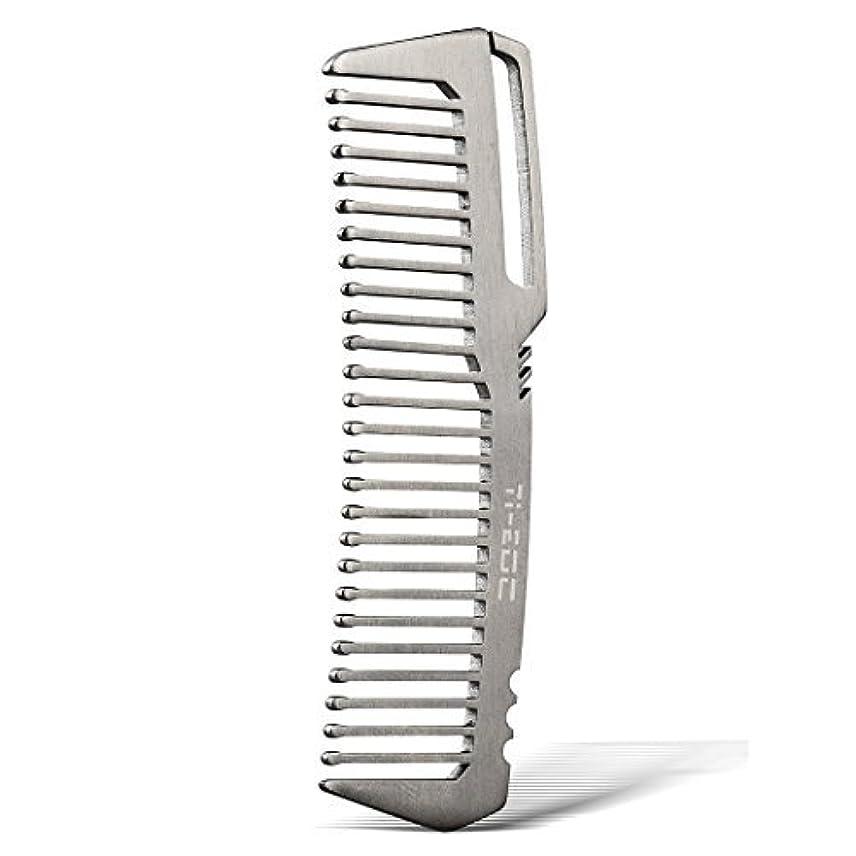 チップソーシャル境界TI-EDC Titanium Hair Beared Comb Handmade Premium Eco-friendly Durable Pocket Wallet Comb [並行輸入品]