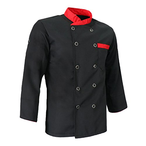 [해외]Baosity 2 색 5 크기 선택 요리사 재킷 작업복 남녀 코트 긴 소매 포켓 주방 노동자 유니폼 유니폼 호텔 레스토랑 씻어 쉬운/Baosity 2 colors 5 sizes to choose Chef Jacket Work clothes Coat for men and women Coat with long sleeve pocket Ki...