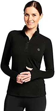 Solbari UPF 50+ Women's Sensitive Quarter Zip Fitness Top - UV Protection, Sun Protec