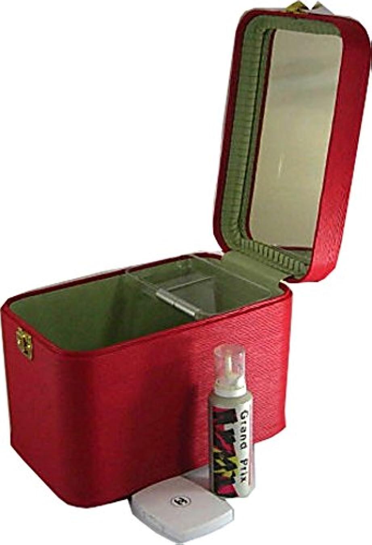 令状日曜日テープ日本製 メイクボックス、コスメボックス 水シボ33cmレッド トレンチケース