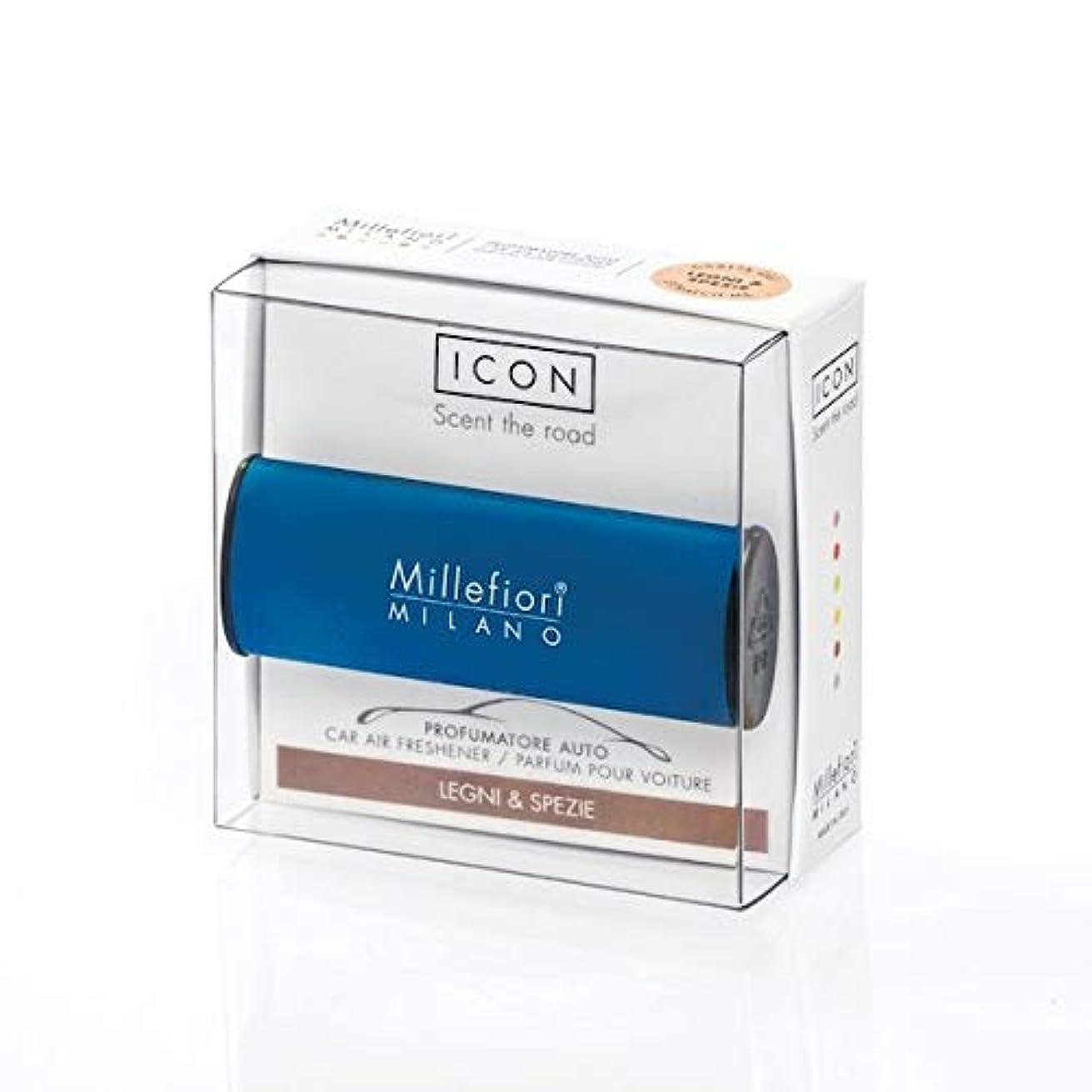 援助わな保険ミッレフィオーリ(Millefiori) カーエアフレッシュナー ICON CLASSIC BLUE- スパイシーウッド(LEGNI & SPEZIE) [並行輸入品]
