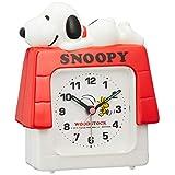 SNOOPY (スヌーピー) 目覚まし時計 キャラクター アナログ R551 電子音 3D 白 リズム時計 4SE551MS03