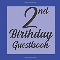 2nd Birthday Guest Book: Royal Blue Black Themed - Second Party Baby Anniversary Event Celebration Keepsake Book - Family Friend Sign in Write Name, Advice Wish Message Comment Prediction - W/ Gift Recorder Tracker Log & Picture Space