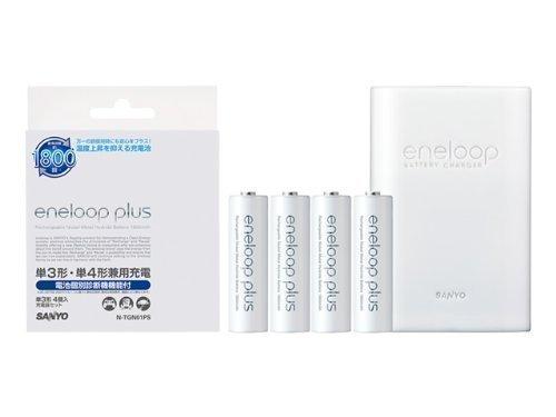 SANYO eneloopplus 充電器セット(単3形4本付) N-TGN01PS