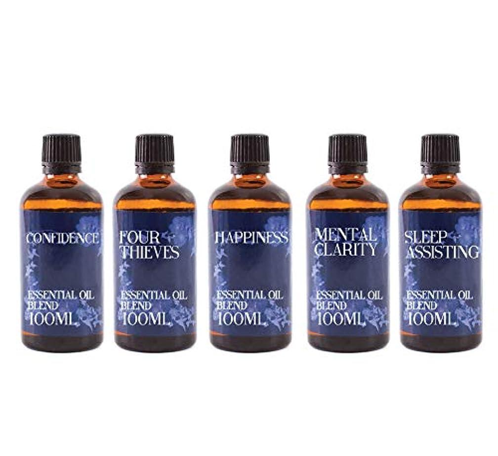 大混乱ステープルネズミMystix London   Gift Starter Pack of 5 x 100ml - Everyday Essentials - Essential Oil Blends