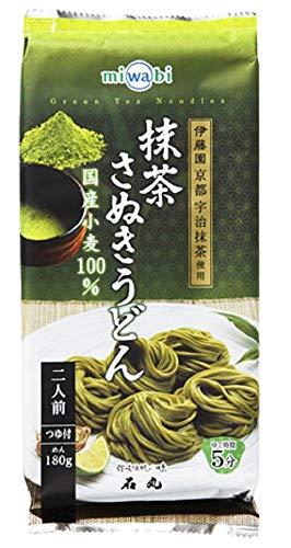 miwabi 抹茶さぬきうどん 220g(めん180g、つゆ20ml×2)×5個