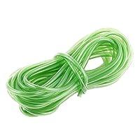 uxcell シリコンチューブ 水槽 ラバー バランス チューブ ホース グリーン 5.8M長さ