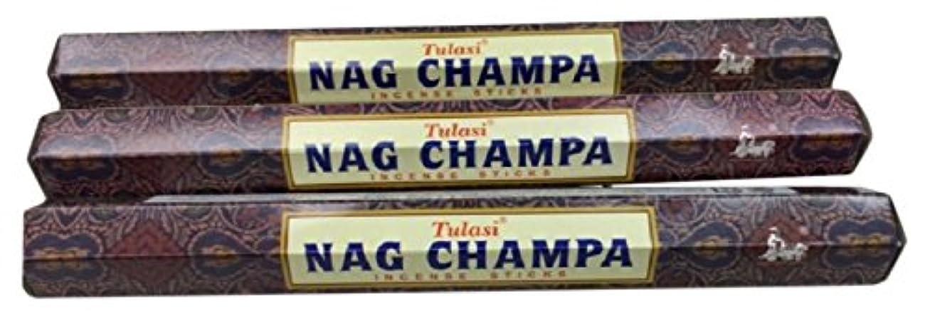 世界記録のギネスブック重要な開始TULASI サラチ STICKS お香 60本入り NAG CHAMPA ナグチャンパ 025001-3
