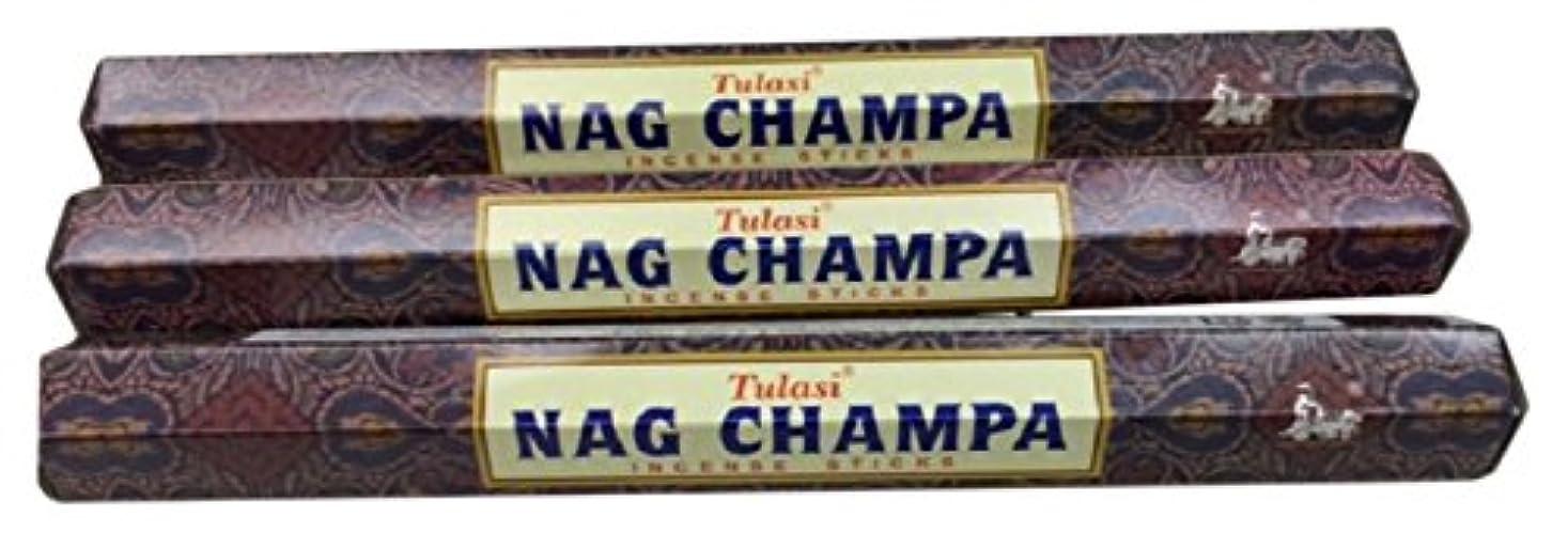 できたうるさい変更可能TULASI サラチ STICKS お香 60本入り NAG CHAMPA ナグチャンパ 025001-3