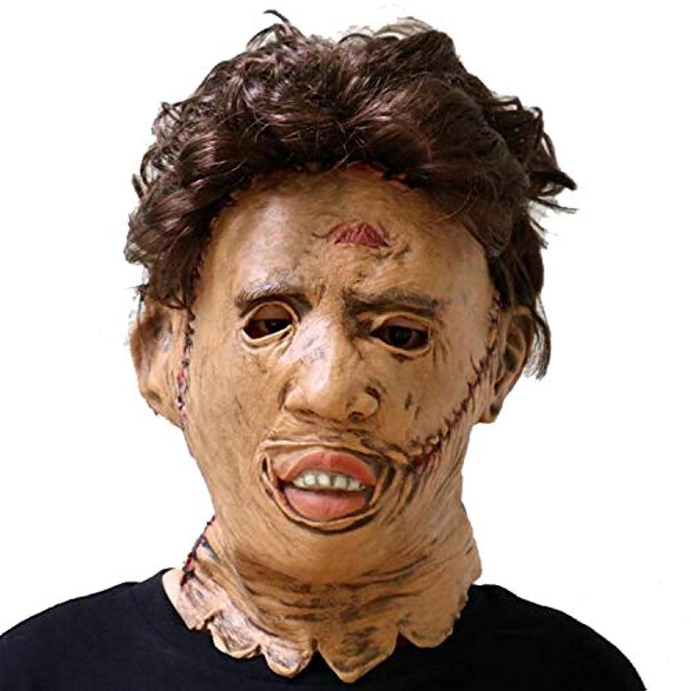 良性論争的飲み込むハロウィーンマスクホラーチェーンソー殺人マスクマスクの映画の小道具バーKTVプロムラテックス帽子