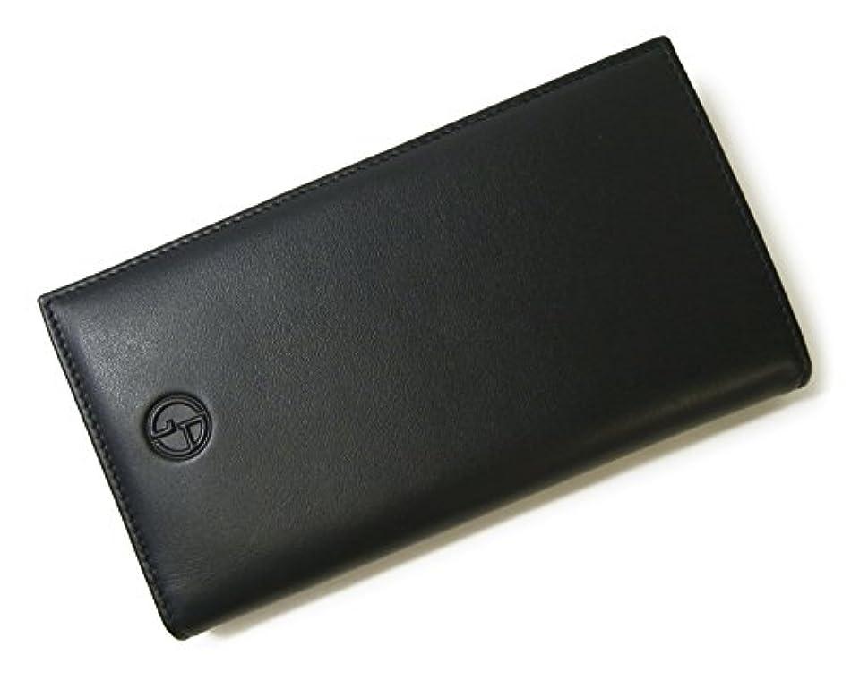 提案不測の事態扱う[アルマーニ] 長財布 ジョルジオアルマーニ メンズ 二つ折 *箱傷あり(ミッドナイトブルー) A-2572 [並行輸入品]