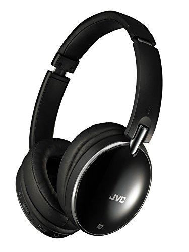 JVC HA-S88BN ノイズキャンセリングヘッドホン Bluetooth・NFC対応/連続27時間再生/有線接続対応/ハンズフリー通話用マイク内蔵/折りたたみ式