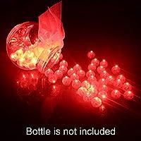 FineInno  クリスマス用ライト 100枚入  ミニ LEDライト クリスマス  パーティー 結婚式など 装飾  祭り カラフル (レッド)