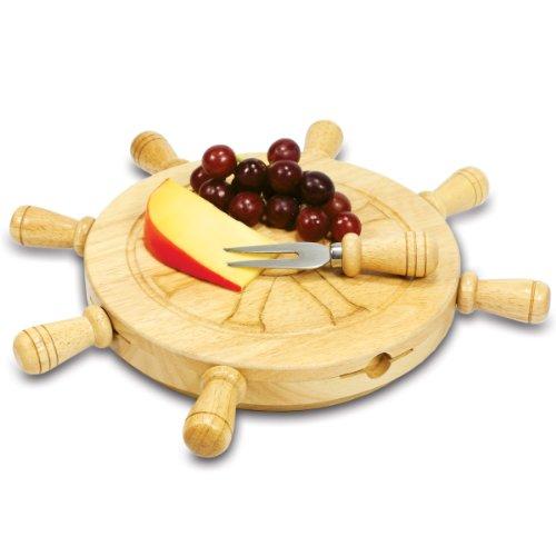 木製チーズボード 兼 カッティングボードとしても使える/チーズナイフ4点セット付