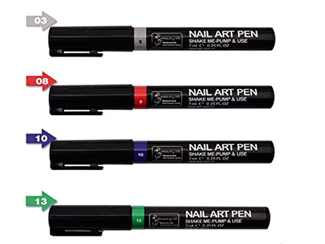 知事パール差別ネイルアートツール3DペイントペンスタイリングドットペンシルネイルブラシDIYマニキュアペンネイルペイントペン (組み合わせ2)