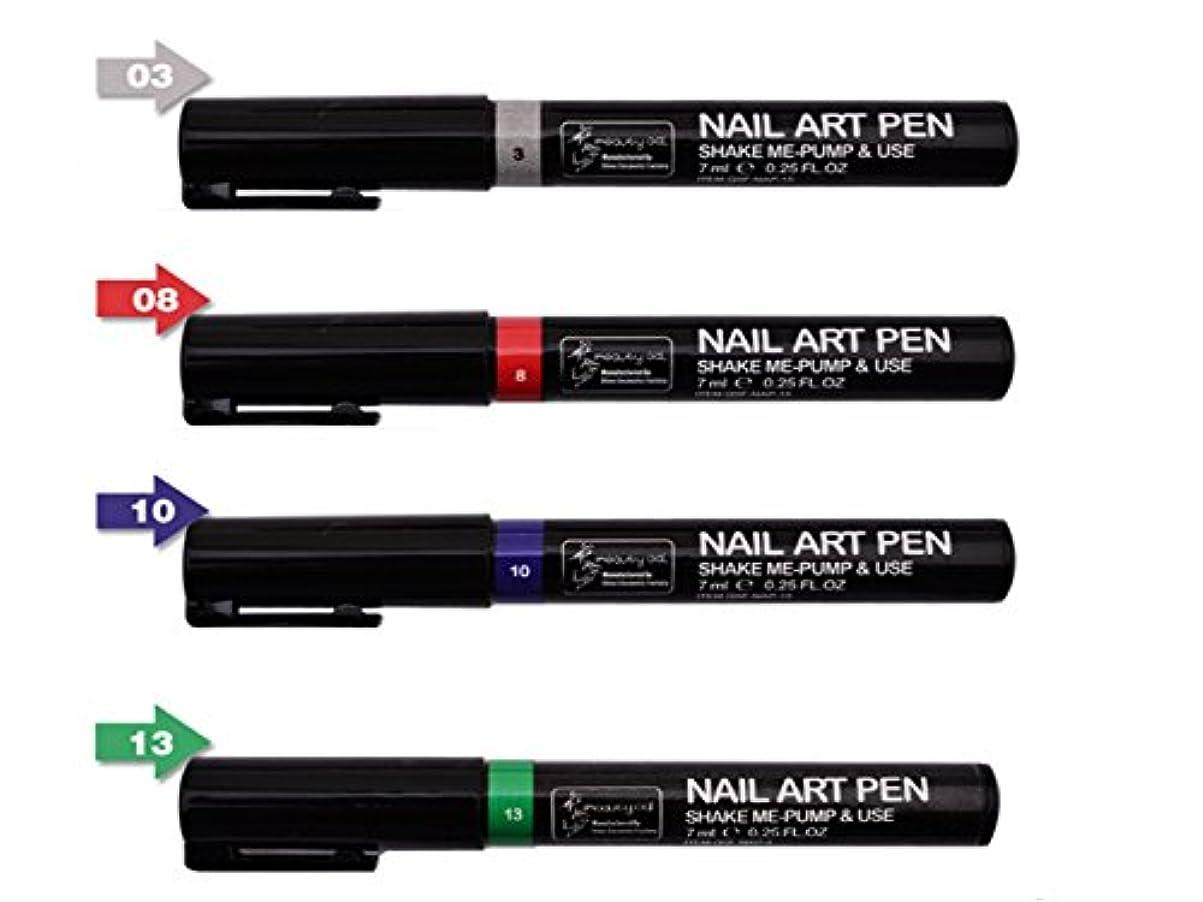 謙虚なデザイナードアミラーネイルアートツール3DペイントペンスタイリングドットペンシルネイルブラシDIYマニキュアペンネイルペイントペン (組み合わせ2)