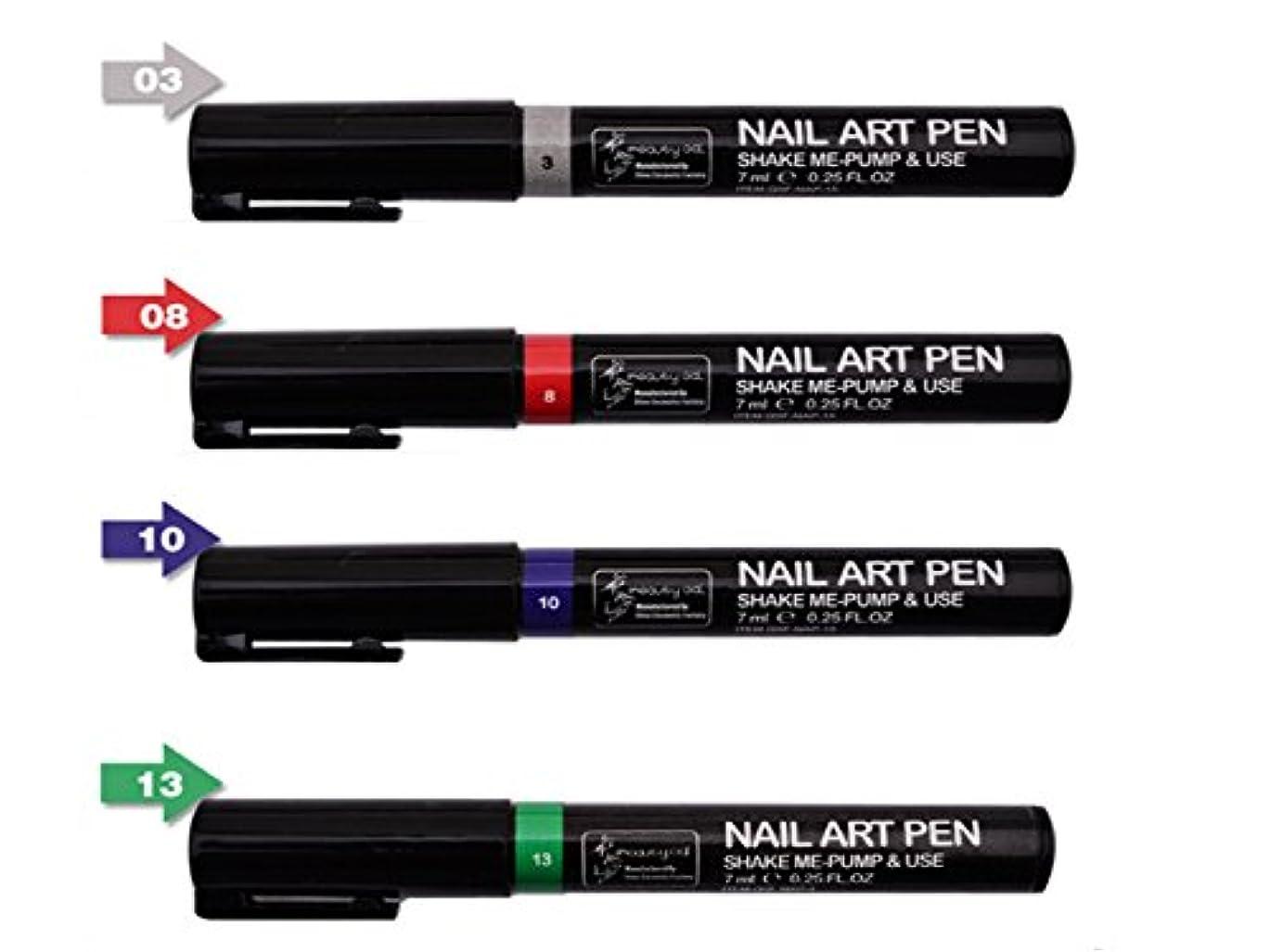 大事にするマニア指ネイルアートツール3DペイントペンスタイリングドットペンシルネイルブラシDIYマニキュアペンネイルペイントペン (組み合わせ2)