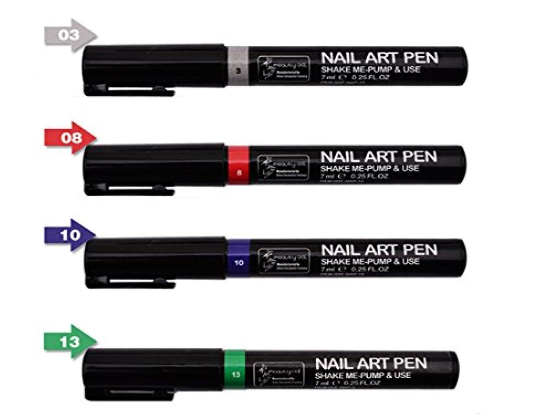 パースソーダ水排出ネイルアートツール3DペイントペンスタイリングドットペンシルネイルブラシDIYマニキュアペンネイルペイントペン (組み合わせ2)