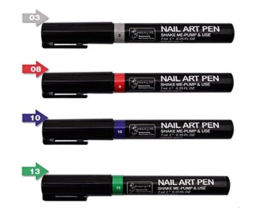 鋼デザート親指ネイルアートツール3DペイントペンスタイリングドットペンシルネイルブラシDIYマニキュアペンネイルペイントペン (組み合わせ2)