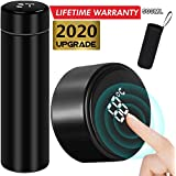 DEAMOS [2020 UPGRADE]Smart Vacuum Insulated Water Bottle Travel Mug with LED Temperature Display | 304 Stainless Steel Drink Bottle | Perfect For Sport Out Door Travel and Office , Black , 500ml
