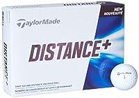 TAYLOR MADE(テーラーメイド) ゴルフボール DISTANCE+ ディスタンス プラス 1ダース 12P (USモデル)  ホワイト