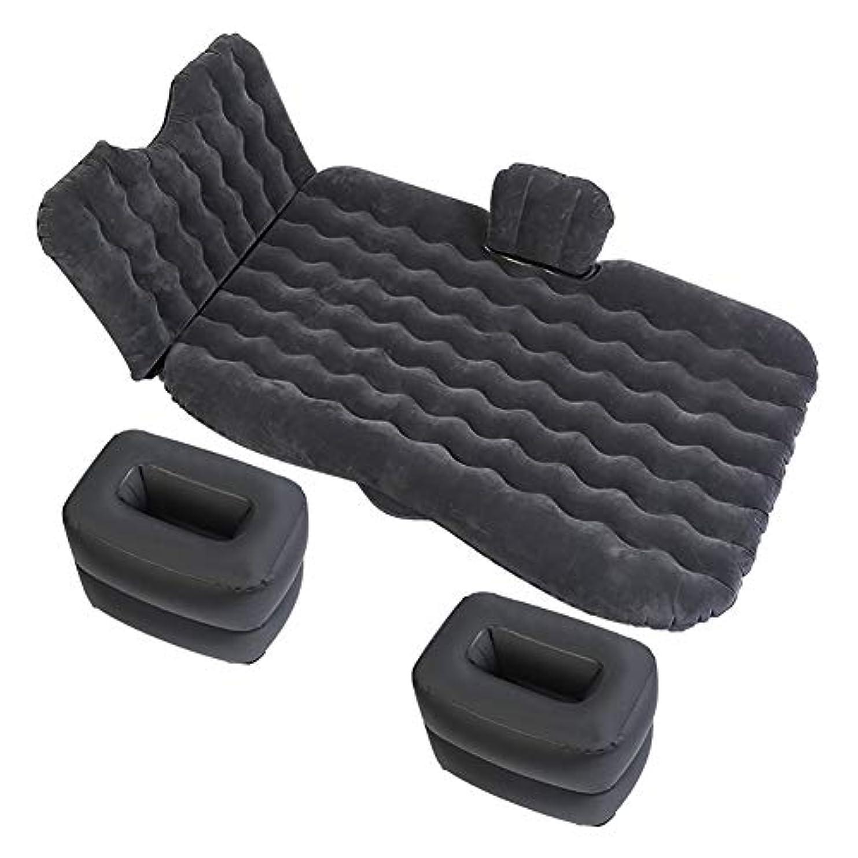 承認するテザー流星後部座席のベッドのクッションの マット 付き 車載用 エアベッドキャンプ 車載用マット 睡眠休息および親密な動きのため(黒、青、肉)