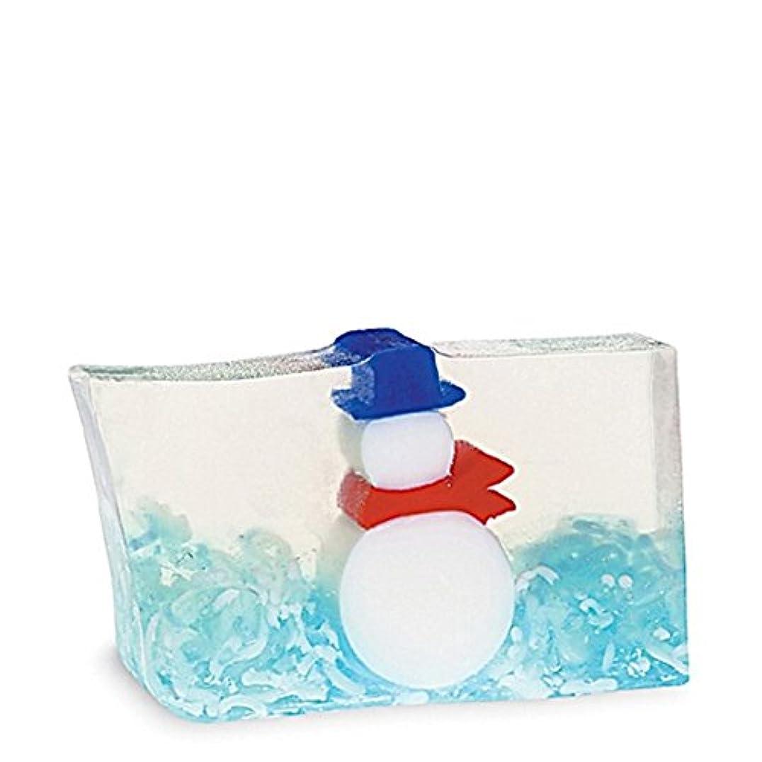 夕方太字物理原初の要素雪だるま石鹸170グラム x4 - Primal Elements Snowman Soap 170g (Pack of 4) [並行輸入品]