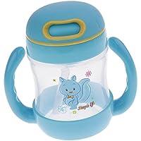 Perfk 全3色 赤ちゃん 瓶 カップ 簡単な 旅行用 - スタイル1 - ブルー