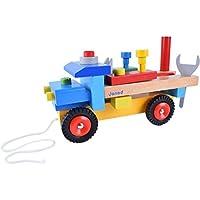 [はれちゃんのおもちゃシリーズ] テコの原理を体感できる工具カー ハンマーで叩いてバールで抜く ドライバーでネジ回しも