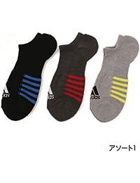 アディダス(メンズレッグウェア)(adidas(Mens Leg Wear)) adidas(アディダス)メンズ 3足組 底ライン 底パイル ショートスニーカー丈 ソックス
