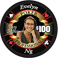 Evelyn Ng Poker Professional $ 100フルセラミックポーカーチップ – Hot Collector 's Item
